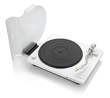 Denon DP-450USB  White  Semi-Automatic Analog Turntable | USB Output for Recording | Speed Auto Sensor | Specially Designed Curved Tonearm | 33 1/3 45 78 RPM  Vintage  Speeds