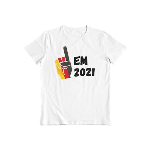 Deutschland Fan Shirt- das ultimative T-Shirt für für den Wahren Deutschland Fan I Deutschland Fahne Finger I Unterstütze die Deutsche National 11 dem EM 2021 Fan Shirt (L)