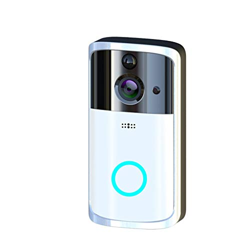 Smart Video Doorbell Wireless Home WiFi Security Camera, M7 1080P Smart WIFI Security Doorbell Wireless Video Phone Camera Night Vision (Silver)