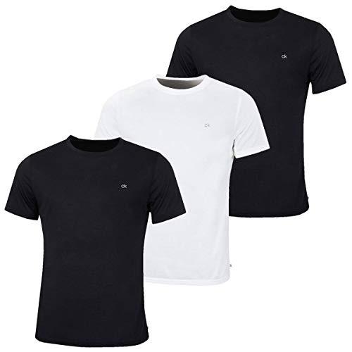 Calvin Klein Golf Herren 3-Pack-T-Shirt - 2 Schwarz 1 Weiß - M