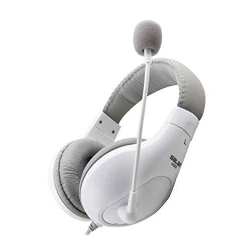WANY Casque de Jeu Esports monté sur la tête Casque de Jeu Casque de café Internet café Internet Réduction des bruits parasites Interférence Anti-électromagnétique-White