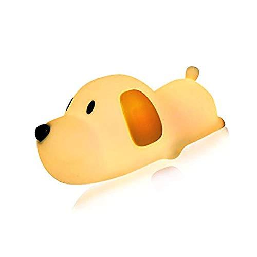 LED Doggy Nacht Licht, Bysameyee Zachte Puppy Silicone Baby Kwekerij Lamp, Gevoelige Tap Controle Timing Slaap voor Kinderen Peuter Vrouwen Slaapkamer