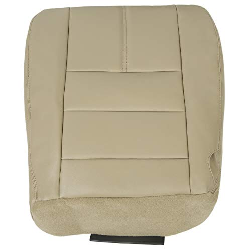 ECOTRIC Driver Bottom Replacement Seat Cover Camel Tan Compatible with 2008-2010 Ford Super Duty F250 F350 F450 F550 Lariat