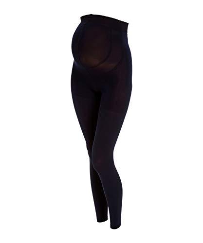 FALKE Damen Leggings 9 Months 80 Denier - Blickdicht, Matt, 1 Stück, Blau (Marine 6179), Größe: XL