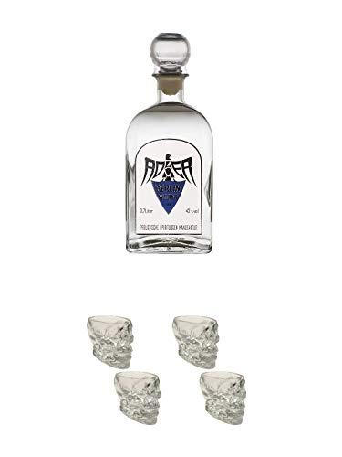 Adler Berlin Wodka Deutschland 0,7 Liter + Wodka Totenkopf Shotglas 2 Stück + Wodka Totenkopf Shotglas 2 Stück