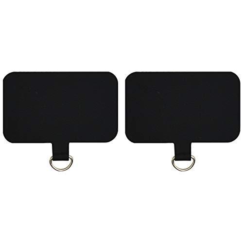 PLUXEN 전화 끈 패드-2X 유니버설 내구성 탭 아이폰 삼성 및 모든 셀룰라 전화 스트랩 안전 밧-검은색 또는 백색
