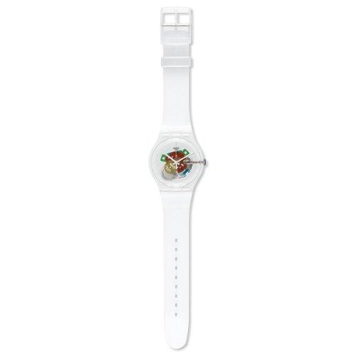 Swatch Random Ghost SUOK111 - Reloj analógico de Cuarzo para Hombre, Correa de plástico Color Blanco