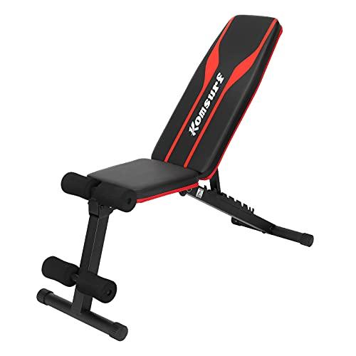 Komsurf トレーニングベンチ アジャスタブルベンチ インクラインベンチ 筋トレ ベンチ台 腹筋台 シットアップベンチ ダンベルベンチ ホームジム