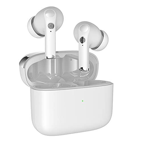 ZJ Auriculares inalámbricos Bluetooth 5.0 Smart Touch TWS Auriculares Deportivos con cancelación de Ruido de Llamadas ENC Auriculares Deportivos Semi-in-Ear(Color:B)