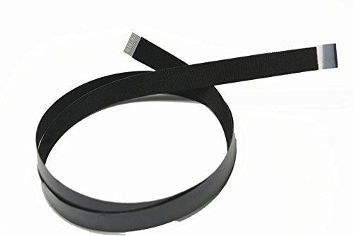 Zwarte platte zachte slanke zachte dunne dunne platte FFC-kabels voor HDMI-connectoren 20 pins B-versiepennen aan verschillende zijden van de kabel 100CM Zwart