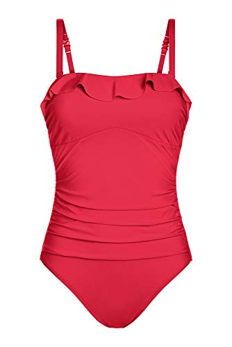 Amoena Women's Malta One-Piece Multiway Pocketed Mastectomy Swimsuit, Red, 10B