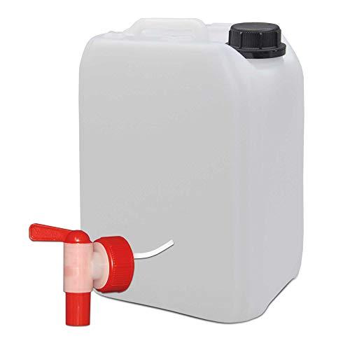 5 Liter Wasserkanister Campingkanister Wasserbehälter Kanister mit AFT-Hahn, natur