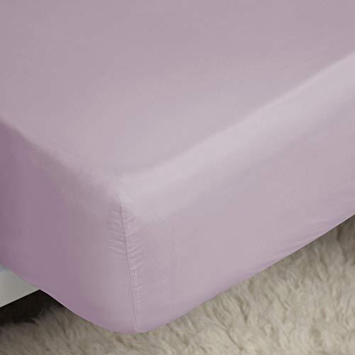 Jansons Direct Linens 200 Fils Facile d'entretien Polycoton King Size Uni Dye Ensemble Housse de Couette en Rose poudré