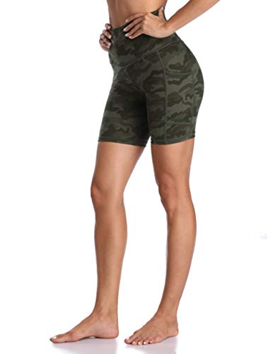 Colorfulkoala Women's High Waisted Biker Shorts with Pockets 6' Inseam Workout & Yoga Tights