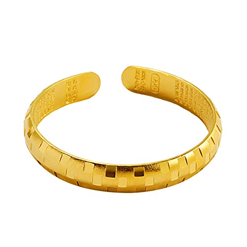 Brazalete clásico de las mujeres de la pulsera de la moda de la joyería de 18k chapado en oro amarillo femenino Dubai Accesorios regalo