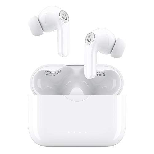Auriculares inalámbricos, Bluetooth 5.0 con micrófono Incorporado, Carga rápida USB-C / IPX7 Resistente al Agua / 25 Horas de reproducción/Graves Profundos para Deportes, Gimnasio, Oficina