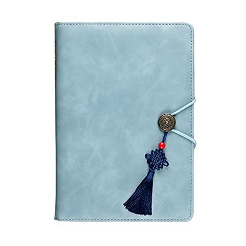 GLASSNOBLE Diario de Cuero Retro Papelería reemplazable Cuaderno Vintage Hecho a Mano Diario de Viaje Regalo Bloc de Notas Planificador Suministros de Oficina