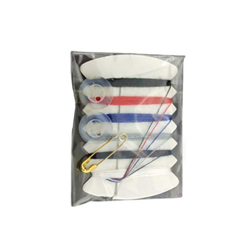 HEALLILY Mini kit de herramientas de costura de la aguja de coser portátil pasador de seguridad botón de hilo de establecer una bolsa de mano de costura para 100pcs de viaje