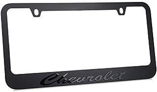Chevrolet Script Stealth Blackout License Plate Frame