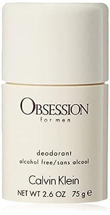 Calvin Klein - Desodorante Sin Alcohol Obsession for Men, Multicolor, 75 Gramos