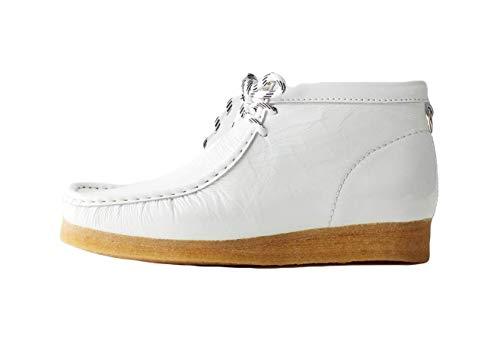 Clarks Women's Originals Wallabee Boot white Size: 8 UK