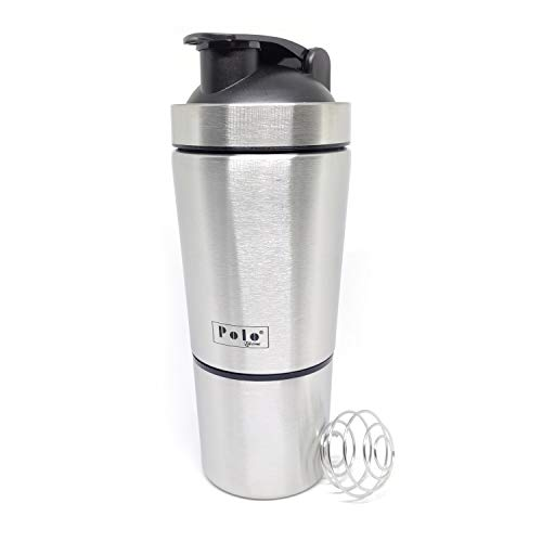 HOMEISH Polo Stainless Steel Shaker for Gym