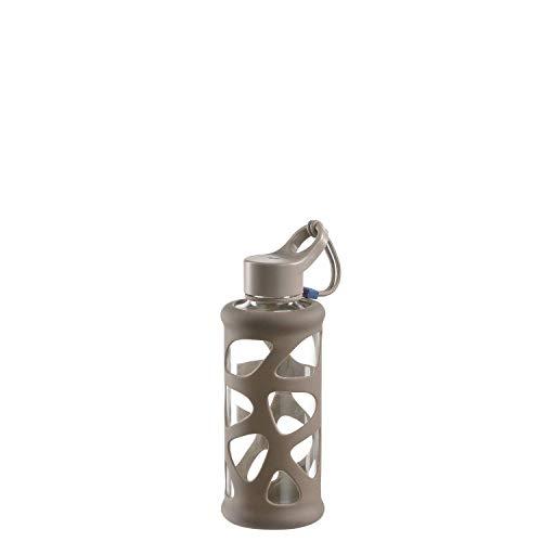 Leonardo Trinkflasche In Giro 350 ml, To Go, Borosilikatglas, Schutzhülle, spülmaschinenfest, stoßfest pink, 028980