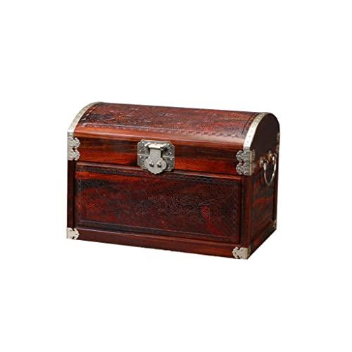 Cajas para joyas Caja de joyería de madera maciza china retro caja de almacenamiento anillo pendiente collar pulsera reloj pequeño joyería caja caja de joyería 11.81 pulgadas Joyero ( Color : A )