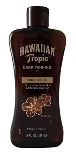 Hawaiian Tropic Dark Tanning Oil, Original - 8 oz (Pack of 12)