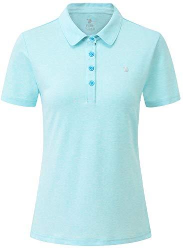 JINSHI Femme Polo Shirt de Sport à Manches Courtes Golf...