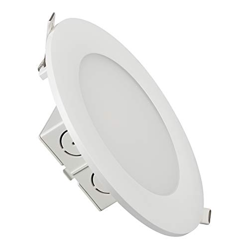 TORCHSTAR 15W 6 Inch Slim Recessed Ceiling Light with Junction Box, Dimmable Airtight Downlight, 100W Equivalent UL & Energy Star Certified, 1000lm, 5000K Daylight White