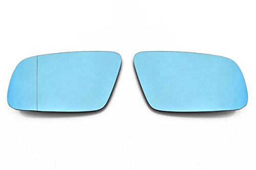 OriginalEuro Euro Wing Tinted Blue Heated Anti Blind Spot Mirror Glass for Audi A4 B5 A6 C5 A8 D2