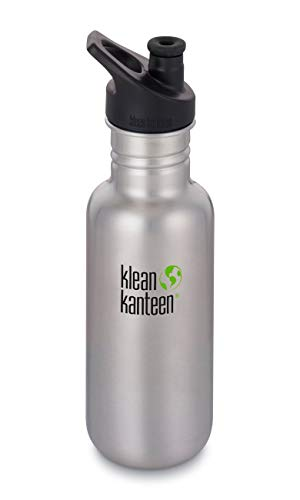 Klean Kanteen Classic Trinkflasche, Brushed Stainless, One Size