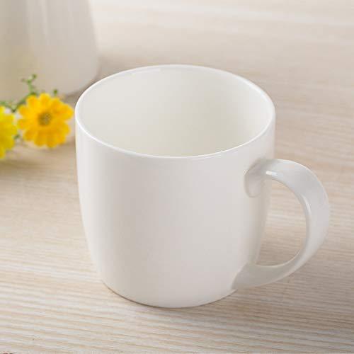 WJVCZ 300 ml, 5 Teile/los, Porzellan Nespresso Kaffeetasse, einfache weiße Keramik Kaffeetasse, Porzellan Mumin Tumbler, Tassen für Sublimation