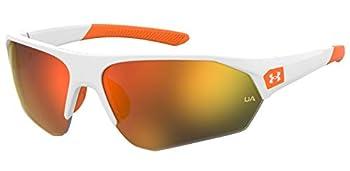 Under Armour UA 7000/S Special Shape Sunglasses White Orange/Blue Gradient 69mm 9mm
