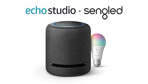 Echo Studio – High-fidelity smart speaker with Sengled...