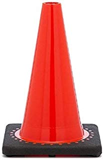 Xpose Safety 12 Inch Orange Traffic Cones - Multipurpose PVC Plastic Safety Cone for Parking, Soccer, Caution, Kids and Construction