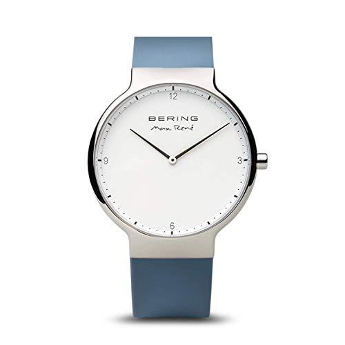 BERING Herren-Armbanduhr Analog Quarz Silikon 15540-700