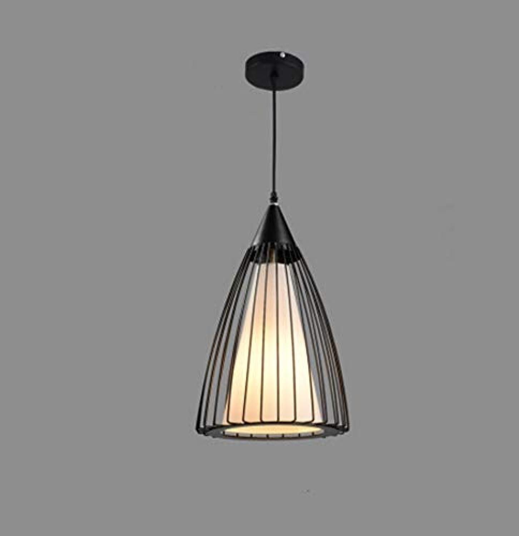 Zhang Ying ZY Kronleuchter American Industrial Wind Eisenkunstloft Retro Cafe Bar Gang Balkon Modernes minimalistisches Restaurant E27 (Gre  Durchmesser25cm)