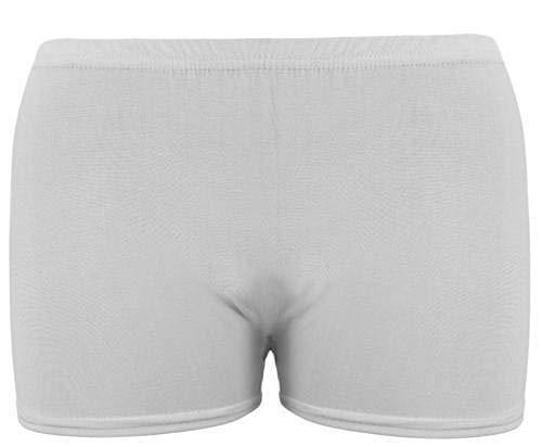 Hotpants für Mädchen, neonfarben, Stretch, Tanz, Sport, Tutu, 5–12Jahre Gr. 11-12 Jahre, weiß