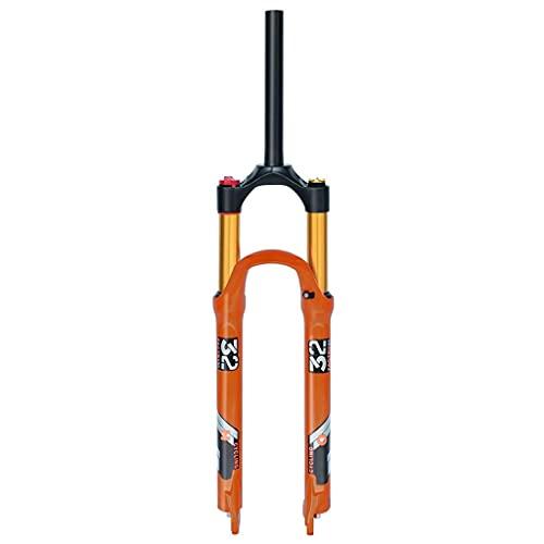 VTDOUQ Horquilla de suspensión MTB para Bicicleta 26'27,5' 140 mm de Recorrido, Horquilla de Aire para Bicicleta de montaña QR de aleación de magnesio Ligera de 1-1/8'