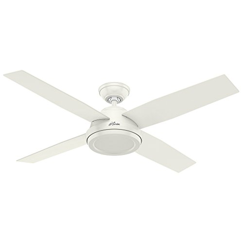 "Hunter Fan Company 59250 Dempsey Indoor Ceiling Fan with Remote Control, 52"", White"