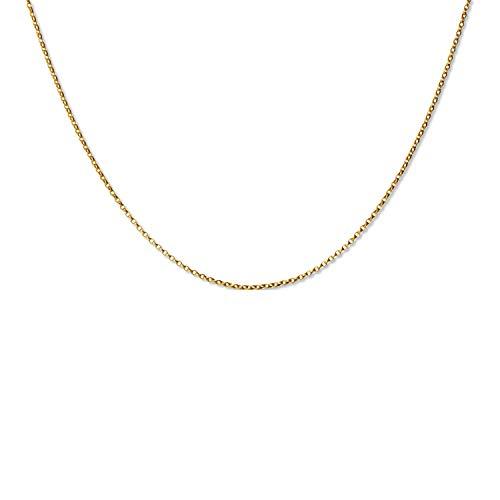 fish Hals-Goldkette 333 333er Gold Längen-verstellbar Geschenkverpackung Verstellbar