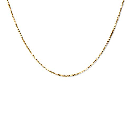 LillyMarie 333 gouden ketting voor dames, 333 in lengte verstelbaar, sieradenzakje met verlenging