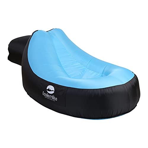 SHUJINGNCE Chaise Longue Gonflable Portable Air Sofa Air Sofa étanche Anti-air Anti-air Break Plage Plage Chaise de Coussin Paresseux pour Pique-Nique de Camping en Voyage (Color : Green 1)
