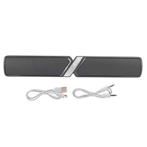 KUIDAMOS Barra de Sonido, 440 x 69 x 69 mm Sistema de Audio Multimedia Altavoz inalámbrico Barra de Sonido, Altavoz estéreo para el hogar, portátil, teléfono Inteligente(Gris)