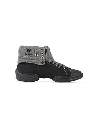 RUMPF 2 Star Sneaker Sportschuhe Ballet & Tanzschuhe schwarz/grau, Gr. 6.5 UK