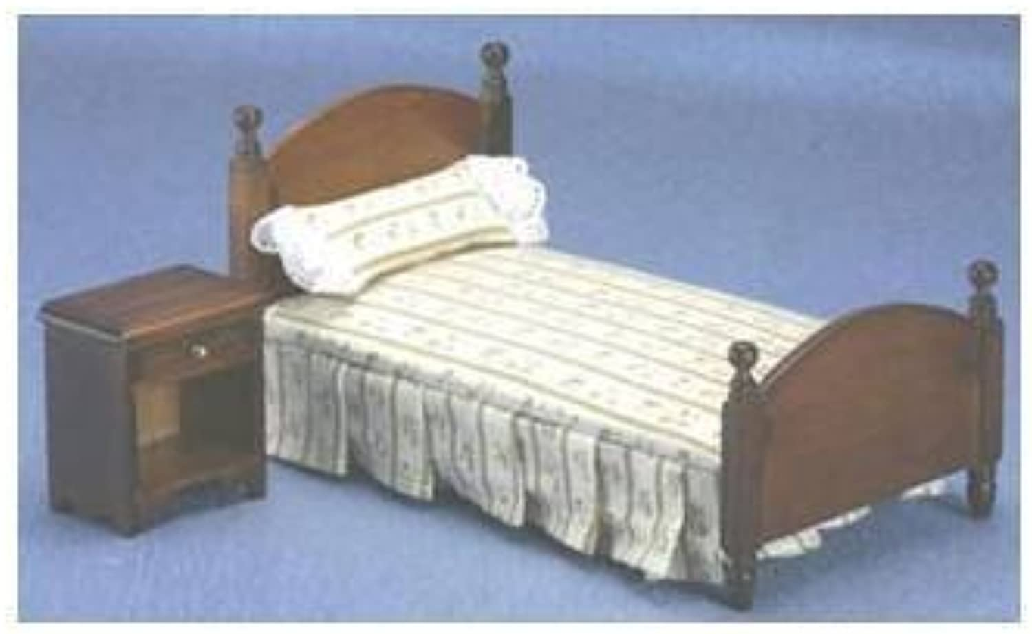 Dollhouse Walnut Bed & Night Stand by Classics