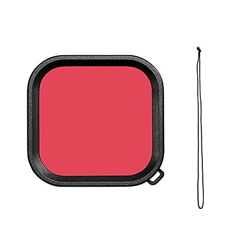 zmigrapddn Funda de Lente Impermeable para GoPro Hero 9 Filtro de Buceo bajo el Agua Rosa Rosa Púrpura Filtros de Buceo Accesorios de cámara Accesorios ( Colour : Red )