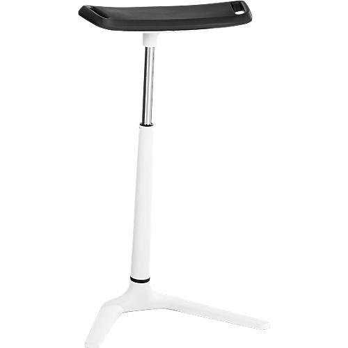 BIMOS Stehhilfe Fin Stehhocker - Höhenverstellbar, extrabreite Sitzfläche, Weiss